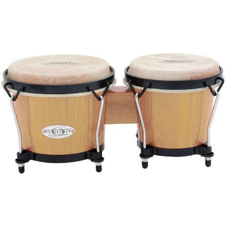 View larger image of Toca Synergy Wood Bongos - Natural