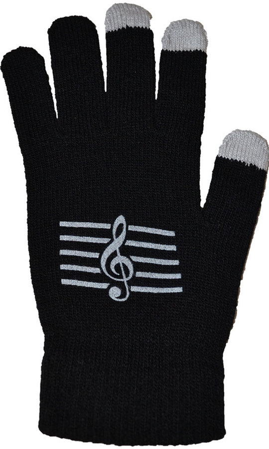 View larger image of Touchless Gloves with G-Clef - Black/White