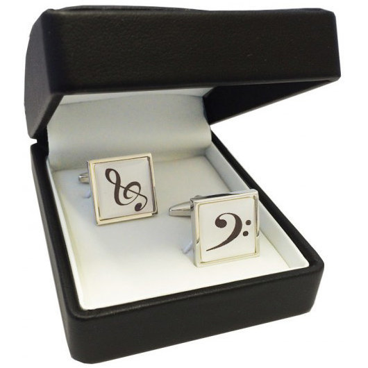 View larger image of Treble/Bass Clef Cuff Links