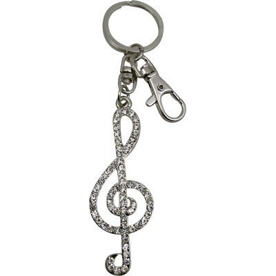 View larger image of Treble Clef Keychain Charm - Jewelled, 3