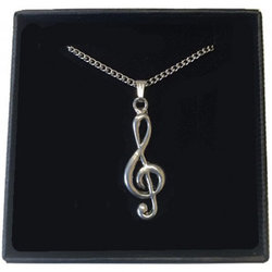 Treble Clef Necklace - Pewter