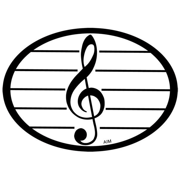 View larger image of Treble Clef Oval Magnet