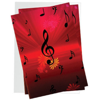 View larger image of Treble Clef with Flowers Note Cards - 10 Box