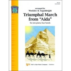Triumphal March from Aida (Weekley/Arganbright) - Piano Duet (1P4H)