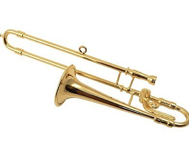 View larger image of Trombone Ornament - Gold, 4-1/4