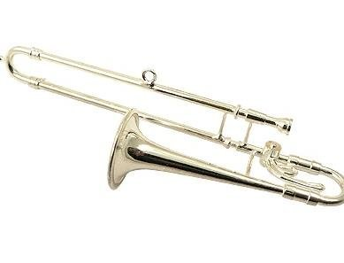 View larger image of Trombone Ornament - Silver, 4-1/4