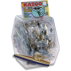 Trophy Metal Kazoo - Individually Sealed Single Kazoo