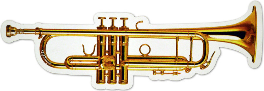 View larger image of Trumpet Die Cut Magnet - 6
