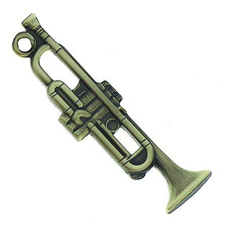 View larger image of Trumpet Keychain - Antiqued Brass