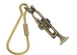 View larger image of Trumpet Keychain - Polished Brass