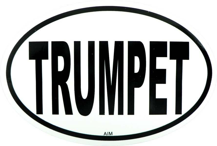 View larger image of Trumpet Sticker - Oval
