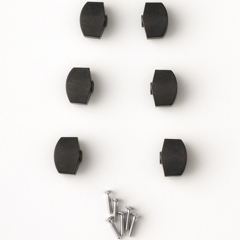 View larger image of PRS S2 Plastic Tuner Buttons - Black, Set of 6
