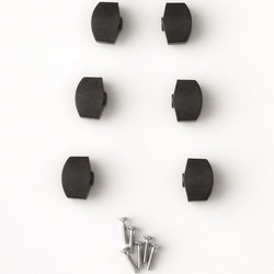 PRS S2 Plastic Tuner Buttons - Black, Set of 6