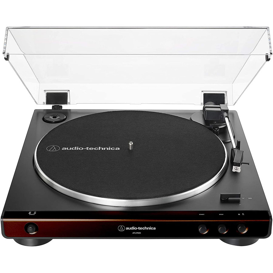 View larger image of Audio-Technica AT-LP60X-BW Belt-Drive Stereo Turntable - Brown/Black