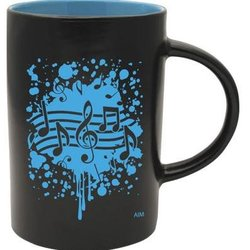 Two-Tone Notes Burst Mug - Black/Blue