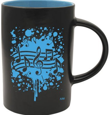 View larger image of Two-Tone Notes Burst Mug - Black/Blue