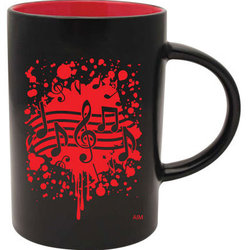 Two-Tone Notes Burst Mug - Black/Red