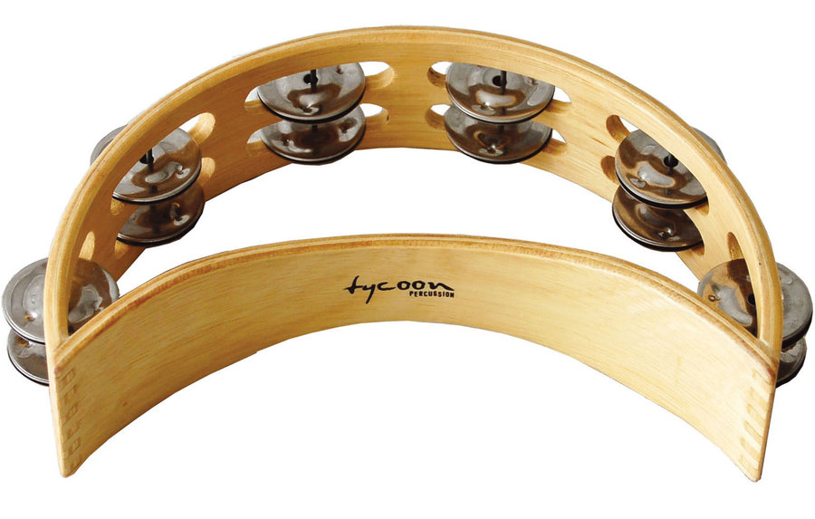 View larger image of Tycoon TC-TBM Moon Wood Tambourine