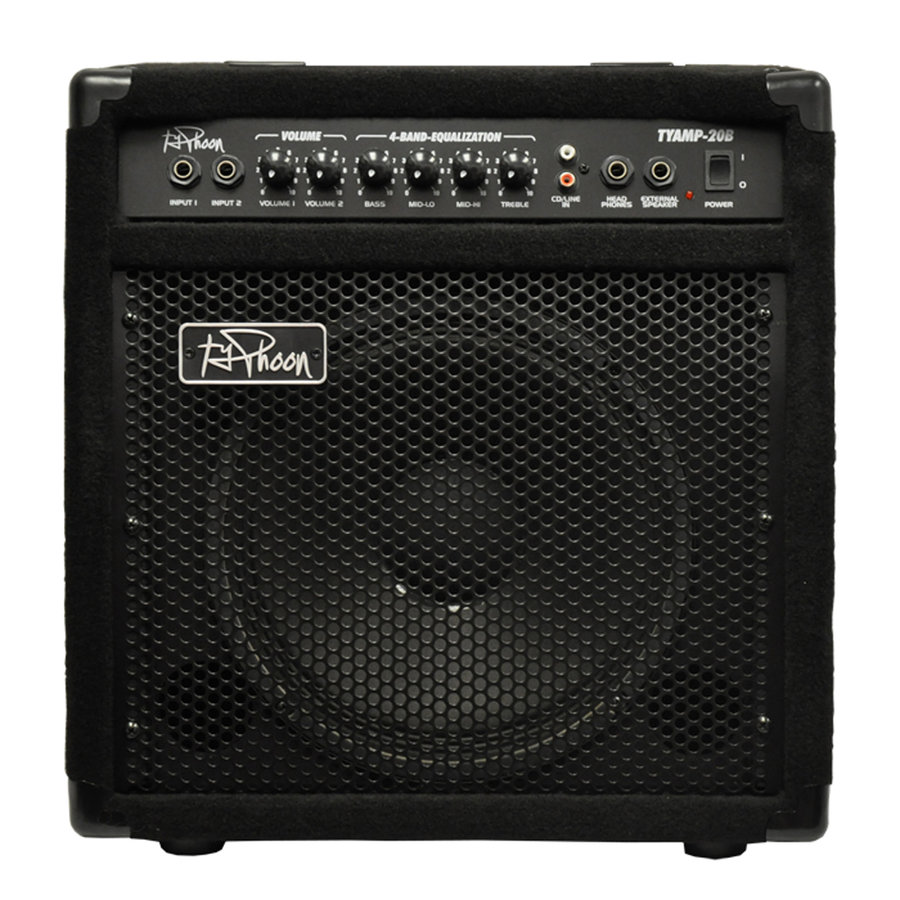 View larger image of Typhoon TY20B 20W Bass Guitar Amplifier