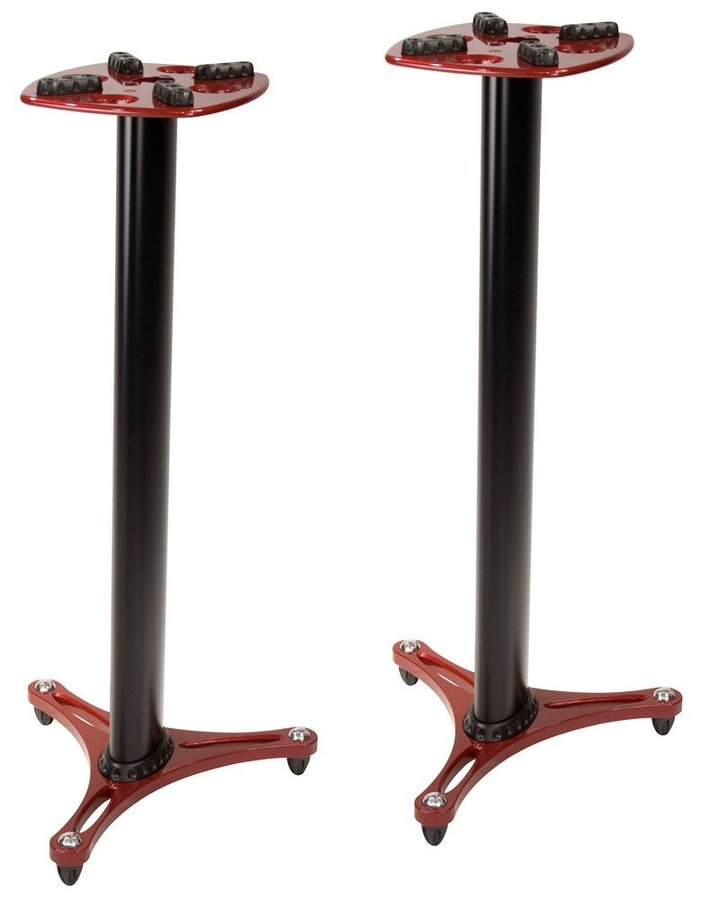 View larger image of Ultimate Support MS-90/45R Speaker Stands - Red, Pair