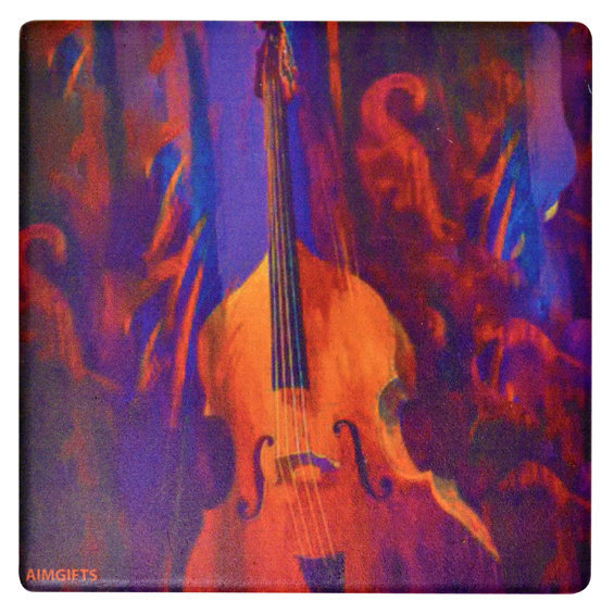 View larger image of Upright Bass Stone Coaster