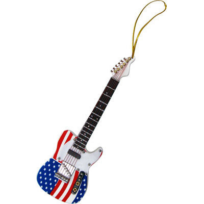 View larger image of US Flag Electric Guitar Ornament