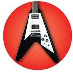 V-Style Guitar Button - 1-1/4
