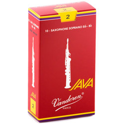 Vandoren Java Filed Red Cut Soprano Saxophone Reeds - #2, 10 Box