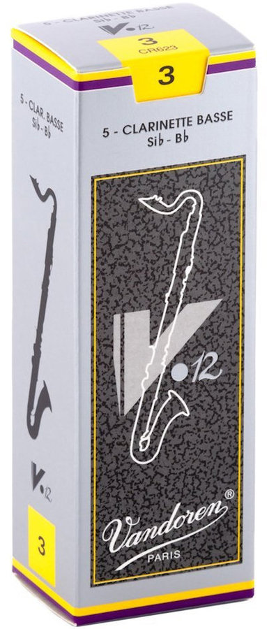 View larger image of Vandoren V12 Bass Clarinet Reeds - #3, 5 Box