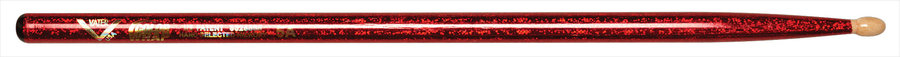 View larger image of Vater Color Wrap 5A Drum Sticks - Red Sparkle