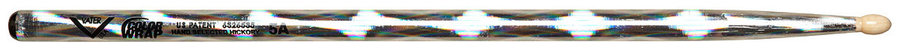 View larger image of Vater Color Wrap 5A Drum Sticks - Silver Optic
