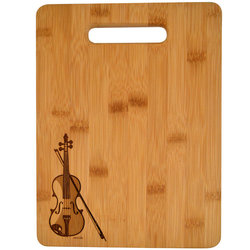 Violin Engraved Wooden Cutting Board