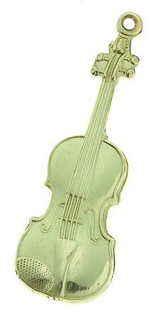 View larger image of Violin Keychain - Polished Brass