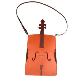 Violin Leather/Suede Cross Body Bag