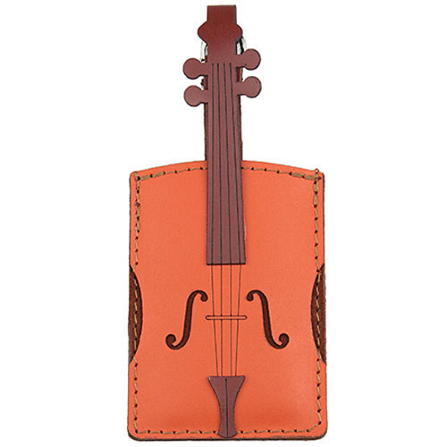 View larger image of Violin Leather/Suede Luggage Tag