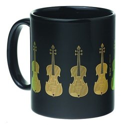 Violin Mug - Black/Gold