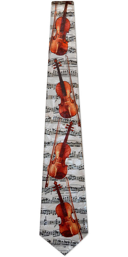 View larger image of Violin/Sheet Music Tie