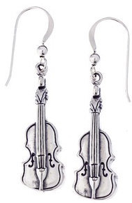 View larger image of Violin Sterling Silver Earrings
