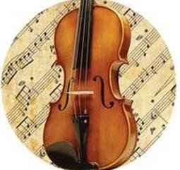 View larger image of Violin with Sheet Music Pin - 1-1/4