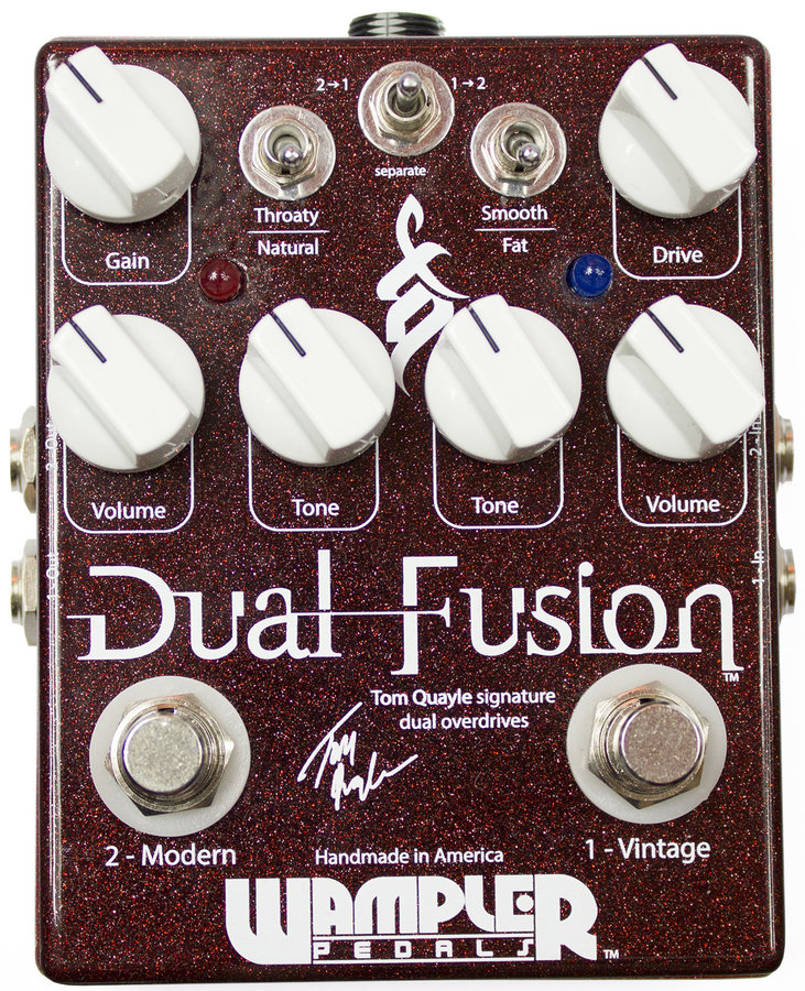 View larger image of Wampler Tom Quayle Dual Fusion Signature Overdrive Pedal