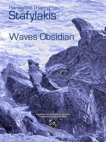 View larger image of Waves Obsidian (Stafylakis) - Guitar Ensemble