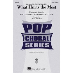 What Hurts the Most (Rascal Flatts), SATB Parts