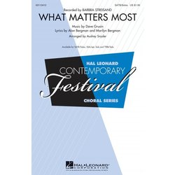 What Matters Most (Barbra Streisand), SATB Parts