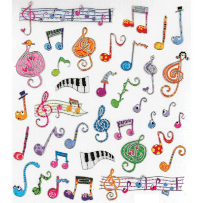View larger image of Whimsy Music Stickers