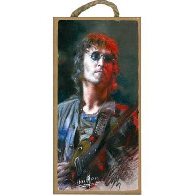 View larger image of Wooden Sign John Lennon with Guitars - 5x10