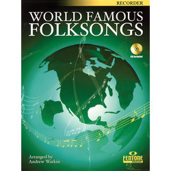 World Famous Folksongs with Book and CD - Recorder