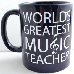 World's Greatest Music Teacher Mug - Black/White