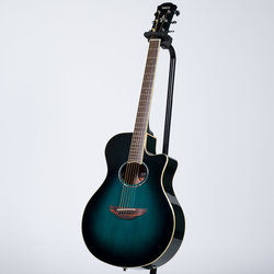 Yamaha APX600 Thinline Cutaway Acoustic-Electric Guitar - Oriental Blue Burst