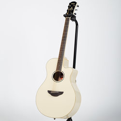 Yamaha APX600 Thinline Cutaway Acoustic-Electric Guitar - Vintage White