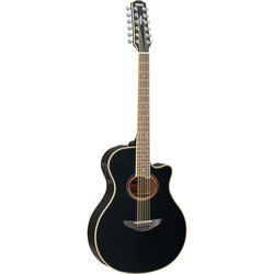 Yamaha APX700II-12 12-String Thin-Line Cutaway Acoustic Electric Guitar - Black
